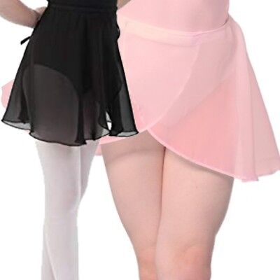 Pink Dance Skirt Wrap Chiffon Georgette Ballet Over Crossover RAD Style (CC)
