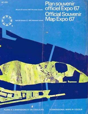 "Expo 67 - Montreal, Canada. ""Official Souvenir Map Expo 67"""