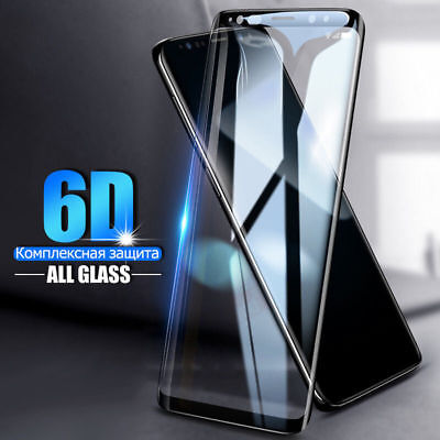 Full Cover 6D Tempered Glass Samsung S8 S9 + Note 9 8 S7 Edge Screen Protector