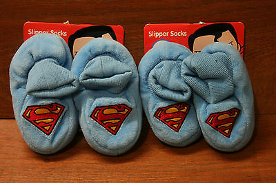 NEW Baby slippers Superman 2 pairs 00-1 1-2