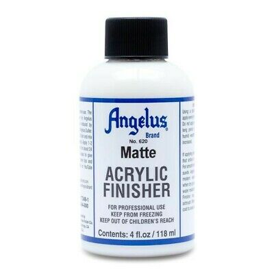 Angelus Acrylic Leather Paint Matt Finisher 4oz Shoes/Sneakers Water resistant