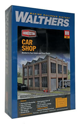 Walthers Cornerstone HO Scale Car Shop Building Kit 933-3040