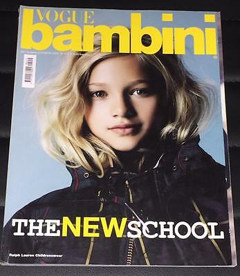 VOGUE BAMBINI Kids CHILDREN Enfant Fashion Italia Magazine September 2009
