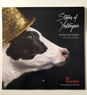NEW 2018 Chick-Fil-A Cow Calendar CARD only, NO Calendar - get lots of free food