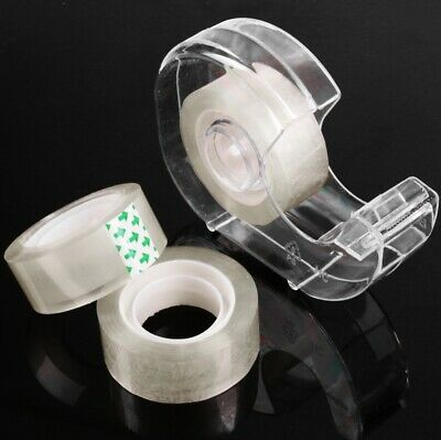 99m OF SELLOTAPE ROLLS WITH DISPENSER Sticky Adhesive Clear Gift Wrap Tape Desk