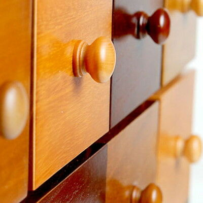 10PCs Natural Wooden Cabinet Drawer Cupboard Wardrobe Door Knobs Pull Handle New
