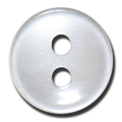 1000x Polyester Shirt Button Bulk 26 lignes/16mm  Pearl White Only Tool