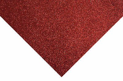 10x Glitter Felt Sheets 30x23cm Red Sewing Craft Tool Hobby Art UK Bulk Filoro