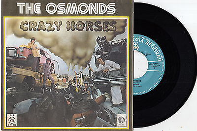 "The Osmonds Crazy Horses / That's My Girl Rare 1972 Record Yugoslavia 7"" Ps"