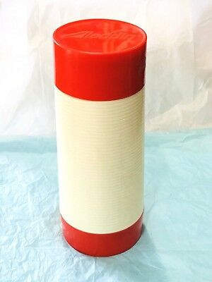 Vintage Aladdin Hy-Lo Thermos Bottle Red Cream Wide Mouth 1 Quart Nashville 060A
