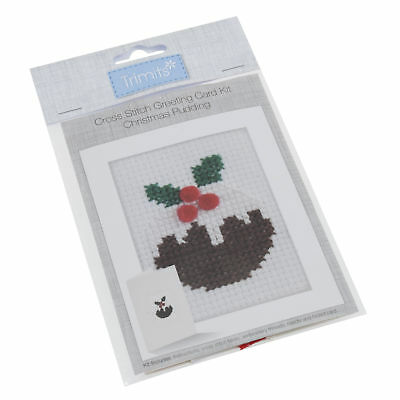 1x Cross Stitch Kit Card Christmas Pudding Sewing Craft Tool Hobby Art