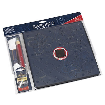 Sashiko Starter Kit Embroidery Template Fabric Thread Included Sewing Craft