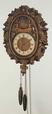 "Vintage 1973 Black Forest E.Schmeckenbecher 1 day Cuckoo Clock ""In Vino Veritas"""