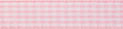 5x Gingham 2-Colour 5mx9mm Light Pink White Sewing Craft Tool Hobby Art