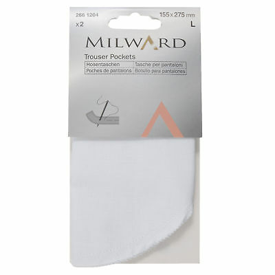 5x Trouser Pockets Full Sew-on 2x155x275mm Sewing Craft Tool Hobby Art