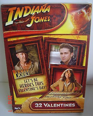 32 VALENTINES INDIANA Jones Ages 3+ Valentine CARDS NEW 8 Designs Card Collect