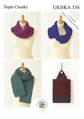 3x Easy Knit Perfect for Beginners Snoods Scarf & Bag Sewing Craft Tool