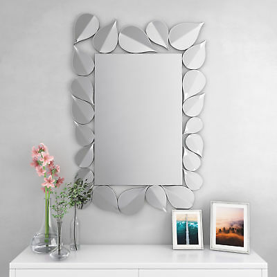Large Rectangle Wall Mirror Decorative Living Room Bedroom Hallway Wall Hanging