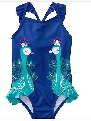 Gymboree Blue Peacock One-Piece Swimsuit Size 12-18 Months NWT