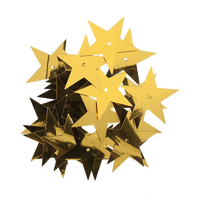 5x Sequins Stars Large Gold 5 PKs of 23 Sewing Craft Tool Hobby Art UK