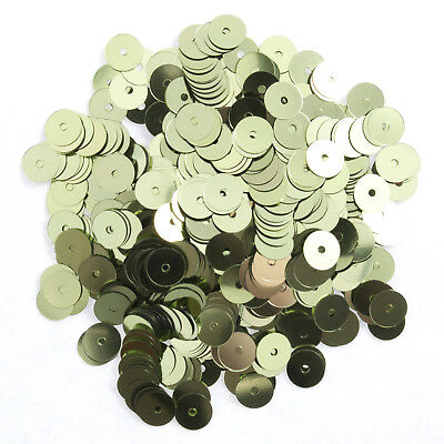 5x Sequins Flat 6mm Light Green 12g Sewing Craft Tool Hobby Art UK Bulk Filoro