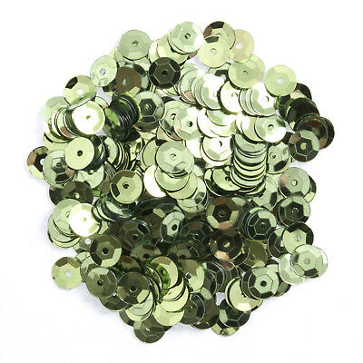 5x Sequins Cup 6mm Light Green 9g Sewing Craft Tool Hobby Art UK Bulk Filoro