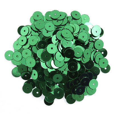 5x Sequins Flat 6mm Dark Green 12g Sewing Craft Tool Hobby Art UK Bulk Filoro