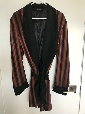 Vintage 1960s Hipster Smoking Lounge Robe Wise Robes of Distinction Size large