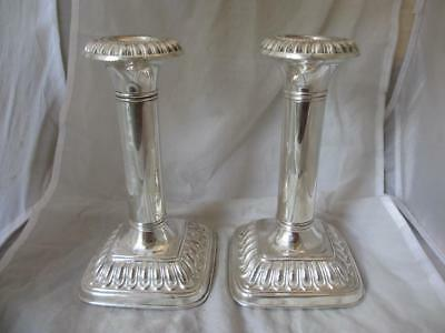 Pair of Silver Plate Candlesticks Antique Victorian 19th Century. BLA03509