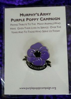 ** Purple Poppy Pin Badge - Support Murphy's Army Purple Poppy Campaign **