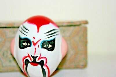 -Chinese-Opera-Miniature-Hand-Painted-Face-Masks-collectors set of 5