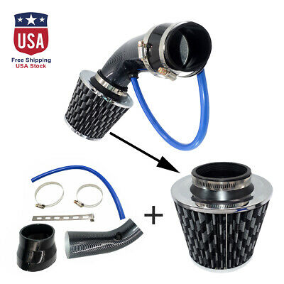"""75mm//3/"""" Short Silvery Car Truck SUV Combined Cold Air Intake Filter System Trim"""