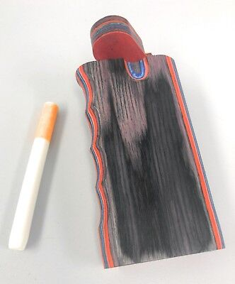 "4"" Colorful Wooden Tobacco Dugout Set with Pipe Easy Grip  3"" CERAMIC One Hitter"