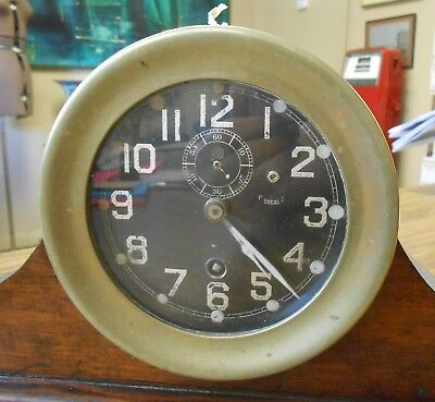Chelsea Clock Co US Navy Ship Cruiser Brass Clock Now Mantle 122861 Working 5.5""