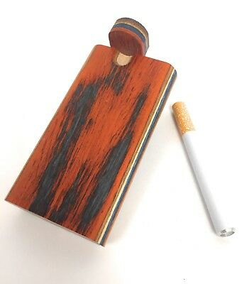 "4"" Colorful Wooden Tobacco Dugout Set with pipe Loaded (3"" Metal One Hitter)"
