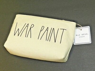 War Paint Rae Dunn Make Up Bag For Purse Cosmetics & More New With Tags One