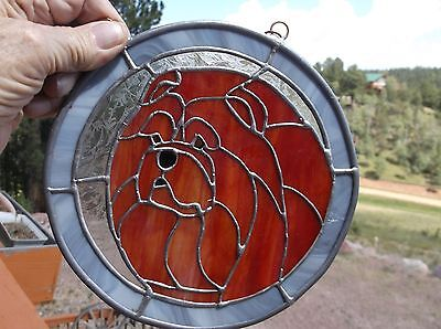 Chow Chow- Original Design stained Glass by Ingrid Jonsson