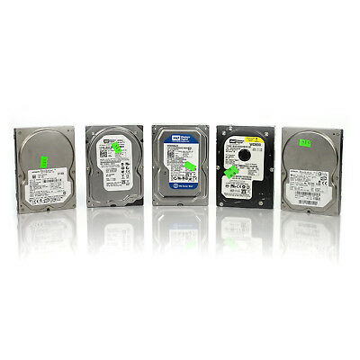 """Lot of 5 Assorted Dell HP WD Seagate 80GB 3.5"""" SATA Hard Drives Tested & Wiped"""