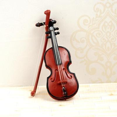 1/12 Dolls House Miniature Instrument Music Violin Model Room Garden