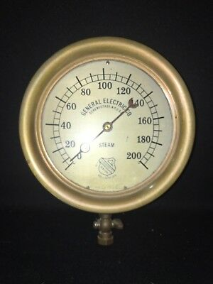 "7 7/8"" Brass General Electric Ashcroft Steam Guage"