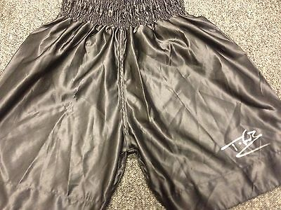 TYSON FURY Autographed Trunks with COA Genuine item   Big Figh June 9th
