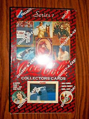 Coca Cola Series 1 Factory Sealed Box 1993 Collect-A-Card - Free Shipping!