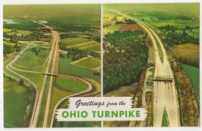 Ohio Turnpike, Toll Plaza c1960 vintage Greetings From postcard
