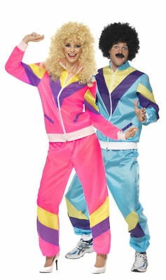 Mens Womens 80s Height Hiphop Scouser Tracksuit Shell Suit Costume Fancy Dress