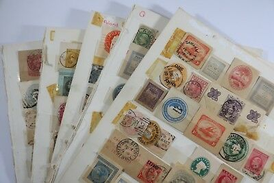 pre-decimal stamps from around the world 5x full pages SNK880