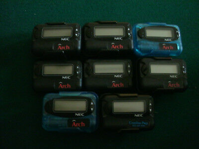 Lot Of 8 (Nec Arch) Pagers All Are In Working Condition L@@k!