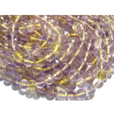Ametrine Faceted Rondelles 6mm Beads 10 Inches Strand 40 Pieces Approx