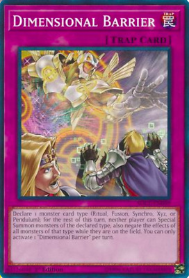 1X NM Dimensional Barrier - SDCL-EN039 - Common 1st Edition - yugioh - tcg -