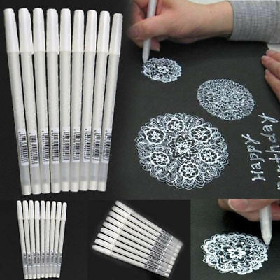White Ink Gel Pen Artist Archival Fine Tip Drawing Painting Sketching Tool Pens