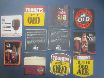 11 Different TOOHEY,S OLD BEER,New South Wales issue BEER COASTERS